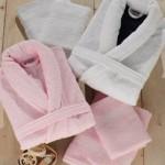 pembe beyaz özdilek bornoz-havlu takımları