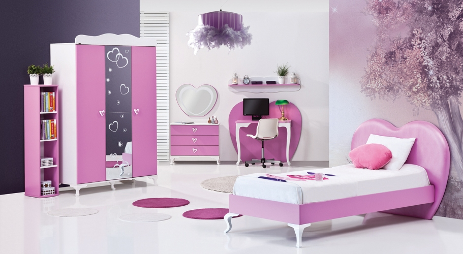 pembe genç odası modeli