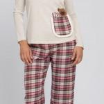 pembe gri lcw bayan pijama modeli