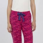 pembe yazılı lcw bayan pijama modeli