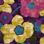 renkli çiçek desenli pier cardin halı modelleri