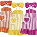 renkli çizgili ve puanlı mutfak önlükleri modeli
