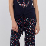 renkli kalpli lcw bayan pijama modeli