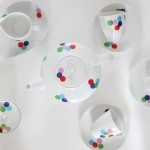renkli puantiyeli fincan takımları modelleri