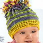 sarı gri yeşil örgü bebek şapka modelleri