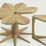 sekiz yapraklı çiçek modelli zigon sehpa modelleri