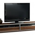 simetrik dolaplı kahverengi LCD tv sehpası modeli