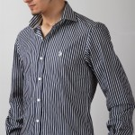 siyah beyaz çizgil us polo erkek gömlek modelleri