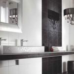 siyah beyaz desenli banyo fayansları modelleri