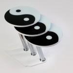siyah beyaz simge desenlizigon sehpa modelleri