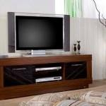 siyah cam kapaklı LCD tv sehpası modeli