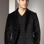 siyah gizli cepli erkek ceket modeli