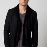siyah kadife atkılı erkek ceket modeli