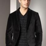 siyah kadife erkek ceket modeli
