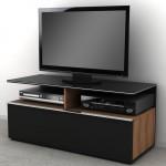 siyah mat kapaklı LCD tv sehpası modeli
