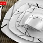 siyah puanlı kare nescafe fincanl,karaca yemek takımlar modelleriı