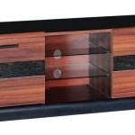 siyah ve maun karışık LCD tv sehpası modeli