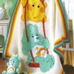 yıldız ve ayı motifli bebek battaniye modelleri 150x150 Bebek Battaniye Modelleri