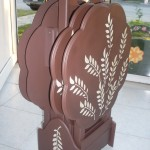 el yapımı çiçek şeklinde zigon sehpa modelleri