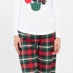 yeşil kırmızı lcw bayan pijama modeli