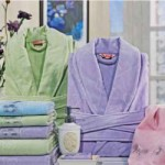 yeşil lila özdilek bornoz-havlu takımları