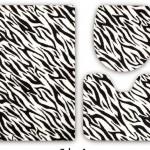 zebra desenli banyo halıları modelleri 150x150 Banyo Halıları Modelleri